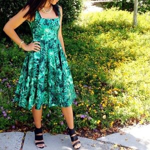 Zara Palm Print dress